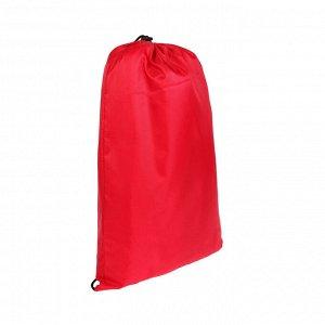 Шезлонг самонадувающийся, цвет красный