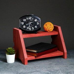 """Полка деревянная """"Подиум"""", цвет красный, 21 х 32 х 19 см"""