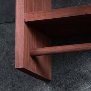 """Полка деревянная """"Полотенчик"""". цвет коричневый. 28 х 40 х 16 см"""