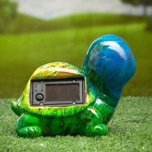 """Садовый светильник """"Черепаха"""" на солнечной батарее, 13 см"""