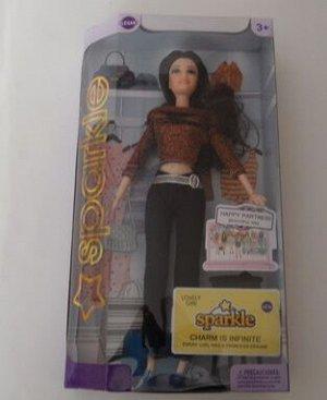 Кукла Кукла с аксессуарами  Длина куклы 30 см осталjсь  2 брюнетки с разной одеждой