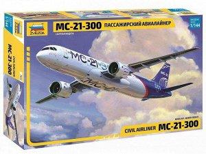 Сборная модель ZVEZDA Пассажирский Авиалайнер МС-21-30021
