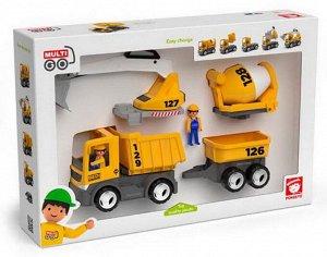Спецтехника: строительная машина, игровой набор, 8 предметов, пластмасса6