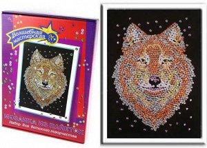 Мозаика из пайеток Волк