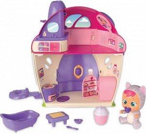 Игровой набор IMC Toys Cry Babies Magic Tears Плачущий младенец Кэти в комплекте с домиком и аксессуарами295