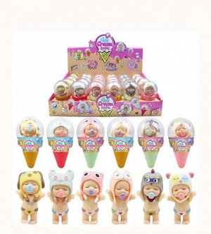 """Пупс-куколка в рожке, серия """"Мороженое"""" 24 штуки,1"""