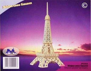 """Сборная деревянная модель Чудо-Дерево Архитектура мира Эйфелева башня""""5"""