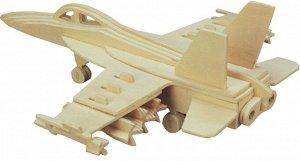 Сборная деревянная модель Чудо-Дерево Авиация Бомбардировщик F18 Хорнет (4/30)44