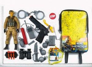 Игровой набор JUNFA военный в рюкзачке, 20 предметов8