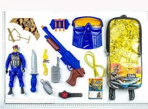 Игровой набор JUNFA военный в рюкзачке, 17 предметов198