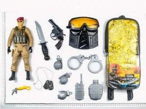 Игровой набор JUNFA военный в рюкзачке, 13 предметов297