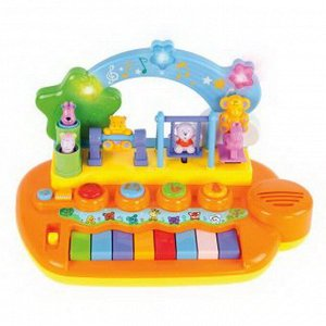 """Центр развивающий музыкальный """"Парк развлечений"""", 14 мелодий и звуков , животные на каруселях крутятся12"""