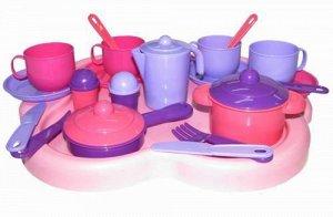 Набор посуды на 4 персоны Янина с подносом 41,5х35х10,5 см.22