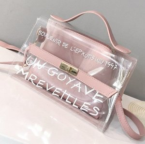 Женская сумка через плечо, цвет розовый