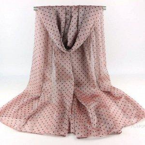 Тонкий шарф в мелкий горошек