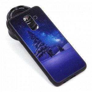 Глянцевый чехол для Samsung Galaxy A6+ (2018), арт.010689