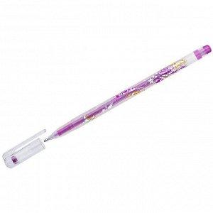 """Ручка гелевая Crown """"Glitter Metal Jell"""" розовая с блестками, 1,0мм"""