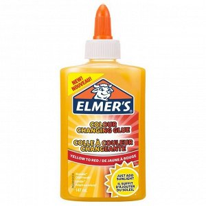 "Клей канцелярский Elmers ""Color Changing Glue"",147мл, для слаймов, меняющ цвет, желт-красн, непрозр"