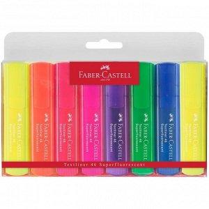 """Набор текстовыделителей Faber-Castell """"46 Superfluorescent"""" 8 флуоресцентных цв.,1-5мм, пластик. уп."""