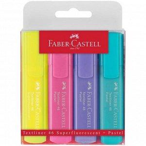 """Набор текстовыделителей Faber-Castell """"46 Superfluorescent+Pastel"""" 2 флуоресц.цв.+2 пастел.цв., 1-5м"""