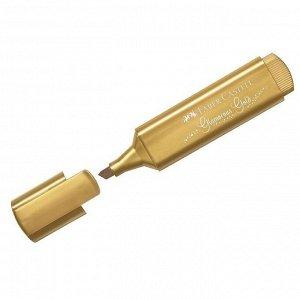"""Текстовыделитель Faber-Castell """"TL 46"""", золото, металлик, 1-5 мм"""