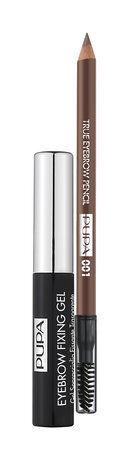 .Пупа набор для бровей(Gel Fix прозрачный+Eyebrow pencil001)