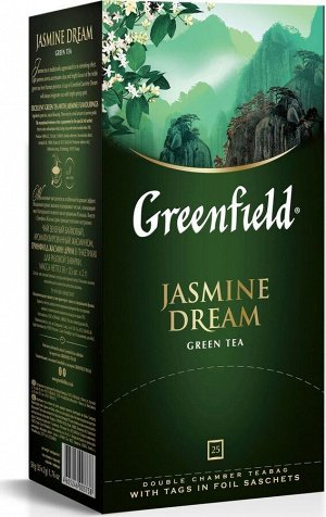 Чай Гринфилд Jasmine Dream green tea 2г 1/25/10, шт