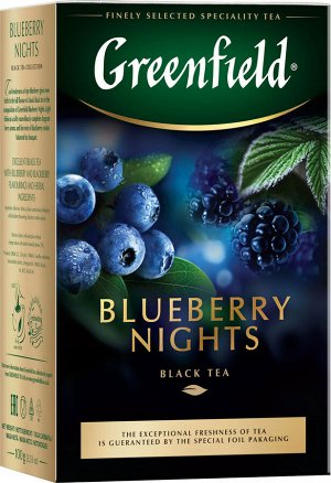 Чай Гринфилд Blueberry  Nights 100г 1/14, шт