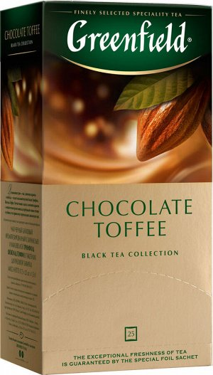 Чай Гринфилд Chocolate Toffee 1,5г 1/25/10, шт