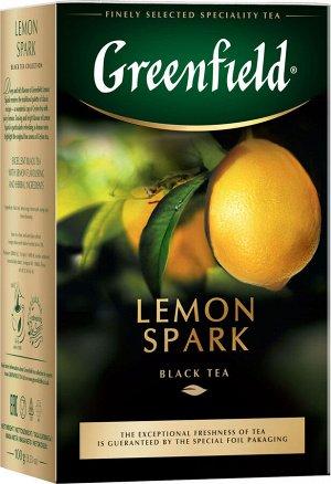 Чай Гринфилд Lemon Spark 100г 1/14, шт