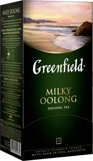 Чай Гринфилд Milky Oolong green tea 2г 1/25/10, шт