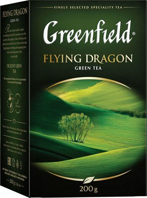 Чай Гринфилд Flying Dragon green tea 200г 1/12, шт