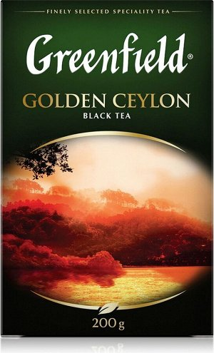 Чай Гринфилд Golden Ceylon black tea 200г 1/10, шт