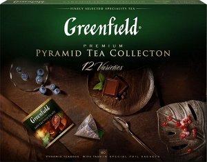 Чай Гринфилд Набор чая и чай нап. пирам. 12 видов 110г. 1/7, шт