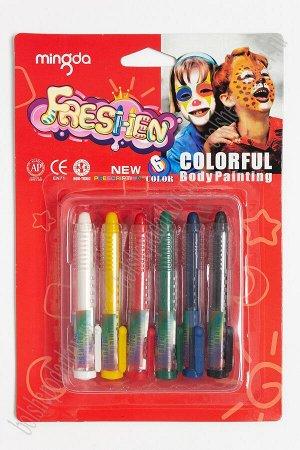 Ручки для рисования на теле (6 шт) SF-5556, ассорти