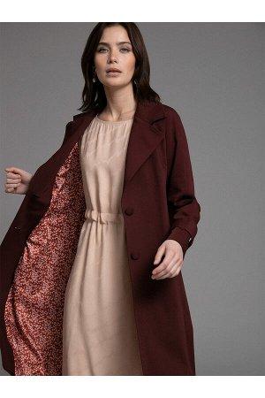 #100994 Плащ (Emka Fashion) бордовый
