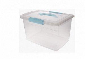 """Ящик для хранения """"Laconic"""" 11л, с ручкой, цв.голубой BQ2524НБСПР"""