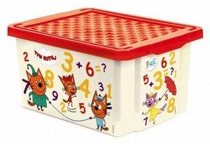 """Ящик для хранения """"Три кота"""" """"Считай"""" 57л LA1427"""