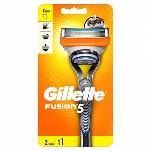 GILLETTE  FUSION  станок + 2кассеты  для бритья,   01767