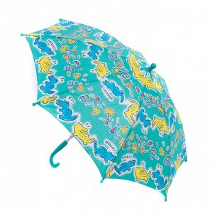 Зонт трость детский Zemsa зеленый крокодилы
