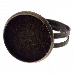 Уценка. Основа для кольца с сеттингом 16мм, р-р 17.8х19мм, р-р регулируется (обод кольца смещен относительно центра площадки)