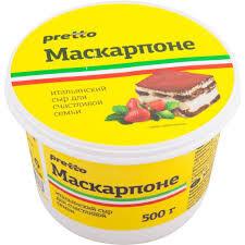 "Маскарпоне ""Pretto"", 80%, 0,5 кг."