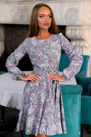 Платье Размер: 42 / 44 / 46 / 48 Шикарное платье из легкого текстильного полотна. Платье с идеальной посадкой по фигуре. Эксклюзивный дизайн ткани только в компанииOpen-style.