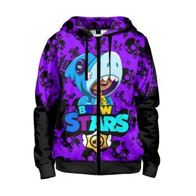 Brawl Stars. Детская одежда и аксессуары — Толстовки на молнии 3D Brawl Stars — Свитшоты и толстовки