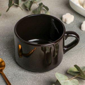 Чашка чайная Rosa nero, 350 мл, цвет чёрный
