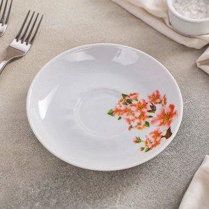 Блюдце 15 см Добрушский фарфоровый завод «Яблоневый цвет»