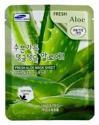 Маска-салфетка для лица с алоэ  3W Clinic Fresh Aloe Mask Sheet