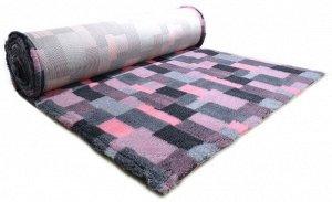 ProFleece коврик меховой В Клетку 1х1,6 м розовый/угольный