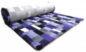 ProFleece коврик меховой В Клетку 1х1,6 м фиолетовый/угольный