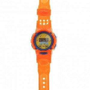 """Часы наручные детские """"Джуниор"""", электронные, с силиконовым ремешком, микс, l=22 см"""